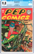 Golden Age (1938-1955):Superhero, Pep Comics #9 Mile High Pedigree (MLJ, 1940) CGC NM/MT 9.8 White pages....
