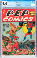Golden Age (1938-1955):Superhero, Pep Comics #11 Mile High Pedigree (MLJ, 1941) CGC NM 9.4 White pages....