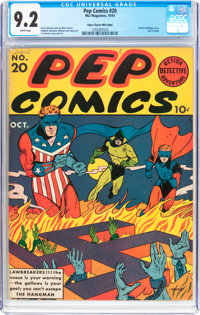 Pep Comics #20 Mile High Pedigree (MLJ, 1941) CGC NM- 9.2 White pages