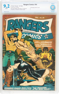 Rangers Comics #14 (Fiction House, 1943) CBCS NM- 9.2 White pages