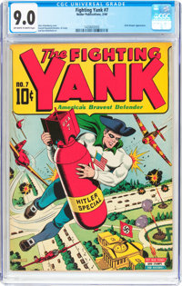 Fighting Yank #7 (Nedor Publications, 1944) CGC VF/NM 9.0 Off-white to white pages