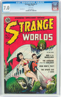 Golden Age (1938-1955):Science Fiction, Strange Worlds #1 (Avon, 1950) CGC FN/VF 7.0 White pages....