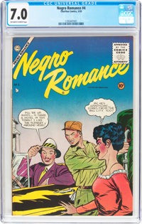 Negro Romances #4 (Charlton, 1955) CGC FN/VF 7.0 Off-white to white pages