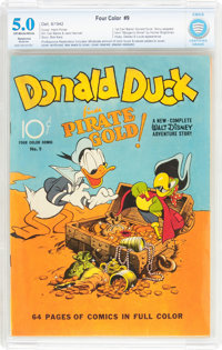 Four Color #9 Donald Duck (Dell, 1942) CBCS Restored (Moderate) VG/FN 5.0 Off-white to white pages