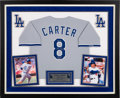 Baseball Collectibles:Others, 1991 Gary Carter Signed Los Angeles Dodgers Jersey (Road)Commemorating His 2,000th Hit & 1,000th Run from The GaryCarter Col...