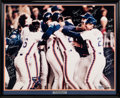 Baseball Collectibles:Others, 1986 New York Mets World Series Champions Victory Poster Signed by29 from The Gary Carter Collection....