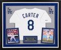 Baseball Collectibles:Others, 1991 Gary Carter Signed Los Angeles Dodgers Jersey (Home)Commemorating His 2,000th Hit & 1,000th Run from The GaryCarter Col...