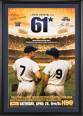 Baseball Collectibles:Others, 2001 - 61* Movie Poster from The Gary Carter Collection....