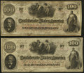 Confederate Notes:1862 Issues, T41 $100 1862 PF-53 Cr. 325A.. T41 $100 1862 PF-59 Cr. 326A.. ...(Total: 2 notes)