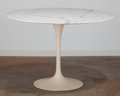 Furniture , Eero Saarinen (American, 1910-1961). Pedestal Dining Table, designed 1956, Knoll International. Marble, coated cast meta...