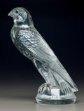 Art Glass:Lalique, R. Lalique Clear and Frosted Glass Faucon Mascot. Circa1925. Molded R. LALIQUE, Wheel carved FRANCE. M p. 498...