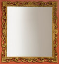 Decorative Arts, Continental, A Large Louis XIV-Style Giltwood Mirror. 60 x 60 inches (152.4 x152.4 cm). ...