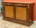 Furniture , A Gilt Bronze Mounted Rosewood Empire-Style Credenza. 40 h x 65 w x 22 d inches (101.6 x 165.1 x 55.9 cm). ...