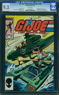 G. I. Joe, A Real American Hero #25 (Marvel, 1984) CGC NM- 9.2 White pages