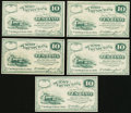 Obsoletes By State:Ohio, Cuyahoga Falls, OH-W. A. Hanford payable at Summit County Bank 10¢1862 Five Examples. ... (Total: 5 notes)