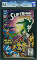 Modern Age (1980-Present):Superhero, Superman #74 (DC, 1992) CGC NM+ 9.6 White pages.