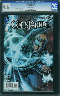 Constantine 1 Reis cover (DC, 2013) CGC NM+ 9.6 White pages