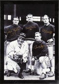 Football Collectibles:Uniforms, Lombardi Legends Multi-Signed Canvas Display. ...