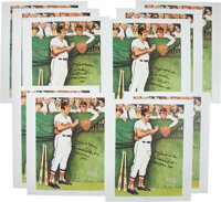 Circa 2000 Brooks Robinson Signed Norman Rockwell Lithographs from The Brooks Robinson Collection Lot of 10