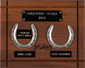 Miscellaneous Collectibles:General, 1979 Greentree Stable Champion Horseshoes Plaque Signed by JorgeVelasquez....