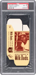Baseball Cards:Singles (1970-Now), 1971 Milk Duds (Complete Box) Roberto Clemente PSA NM-MT 8. ...