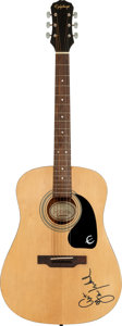 Music Memorabilia:Memorabilia, Art Garfunkel Signed Epiphone PR-100 Natural Finish Acoustic GuitarSerial # 96070016....