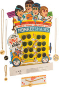 Music Memorabilia:Memorabilia, Monkees Shades Display with Glasses and Medallions (circamid-1960s)....