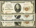 National Bank Notes:Kansas, Kansas City, KS - $10 1929 Ty. 1 and $20 1929 Ty. 1 The Commercial NB Ch. # 6311 and $5 1929 Ty. 1 The Peoples NB Ch... (Total: 3 notes)