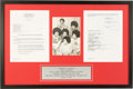Music Memorabilia:Autographs and Signed Items, Michael Jackson and the Jacksons Signed Contract (2001)....