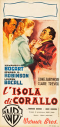 "Movie Posters:Film Noir, Key Largo (Warner Brothers, 1948). Italian Locandina (13"" X 27.5"")Luigi Martinati Artwork.. ..."