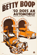 "Movie Posters:Animation, Betty Boop in So Does an Automobile (Paramount, 1939). One Sheet(27.25"" X 41"").. ..."