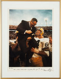 "Football Collectibles:Photos, 1991 Vince Lombardi ""Iconic Super Bowl II Celebration"" Original Print by Neil Leifer - Personalized to Dick Schaap. ..."