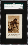 Football Cards:Singles (Pre-1950), 1925 Star Player Candy Capt. Irvine Phillips SGC 20 Fair 1.5 - OnlyTwo SGC/PSA Graded Examples! ...