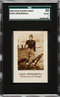 Football Cards:Singles (Pre-1950), 1925 Star Player Candy Hugh Mendenhall SGC 30 Good 2 - Only TwoSGC/PSA Graded Examples!. ...