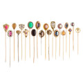 Estate Jewelry:Stick Pins and Hat Pins, Diamond, Multi-Stone, Cultured Pearl, Seed Pearl, Enamel, Glass, Gold, Base Metal Stickpins. . ... (Total: 20 Items)