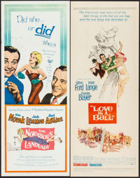"""The Notorious Landlady & Others Lot (Columbia, 1962). Inserts (10) (14"""" X 36""""). Comedy. ... (Total: 10..."""