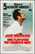 "Movie Posters:Academy Award Winners, One Flew Over the Cuckoo's Nest (United Artists, 1975). International One Sheet (27"" X 41"") Academy Awards Style. Drama.. ..."