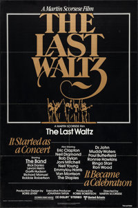 """The Last Waltz (United Artists, 1978). One Sheet (27"""" X 41""""). Rock and Roll"""