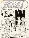 Original Comic Art:Covers, Trina Robbins Mama! Dramas #nn Cover Original Art(Educomics, 1978)....