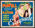 """Movie Posters:Comedy, Escapade (MGM, 1935). Title Lobby Card (11"""" X 14""""). Comedy.. ..."""