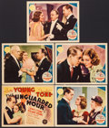 "Movie Posters:Crime, The Unguarded Hour (MGM, 1936). Title Lobby Card & Lobby Cards(4) (11"" X 14""). Crime.. ... (Total: 5 Items)"