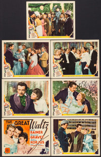 "The Great Waltz (MGM, 1938). Title Lobby Card & Lobby Cards (6) (11"" X 14""). Drama. ... (Total: 7 Items)"