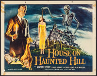 "House on Haunted Hill (Allied Artists, 1959). Half Sheet (22"" X 28""). Horror"
