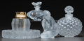Art Glass:Lalique, Five Lalique Clear and Frosted Glass Table Articles. Post-1945.Engraved Lalique, France. Ht. 5 in. (Cactusbottle)... (Total: 5 Items)