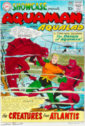 Original Comic Art:Covers, Ramona Fradon and Marie Severin Showcase #30 ReimaginedCover Aquaman Original Art (1999)....