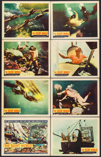"""The Silent World (Columbia, 1956). Lobby Card Set of 8 (11"""" X 14""""). Documentary. ... (Total: 8 Items)"""