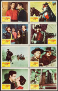 "Movie Posters:Adventure, The Sign of Zorro (Buena Vista, 1960). Lobby Card Set of 8 (11"" X14""). Adventure.. ... (Total: 8 Items)"