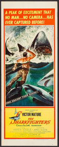 "Movie Posters:Adventure, The Sharkfighters (United Artists, 1956). Insert (14"" X 36"").Adventure.. ..."