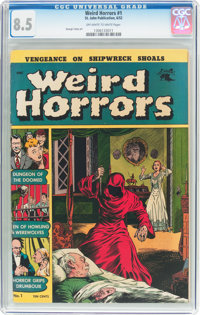 Weird Horrors #1 (St. John, 1952) CGC VF+ 8.5 Off-white to white pages