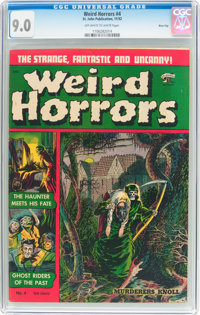 Weird Horrors #4 River City Pedigree (St. John, 1952) CGC VF/NM 9.0 Off-white to white pages